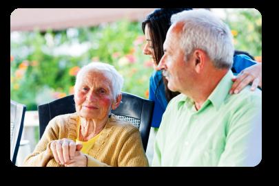 Caregiver taking care the elders